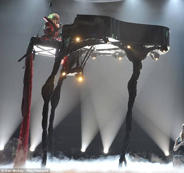 One of Lady Gaga's weirdest pianos